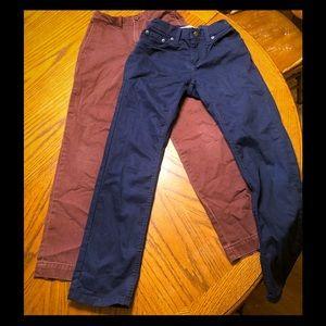 (2) boys pants size 10 with adjustable waist